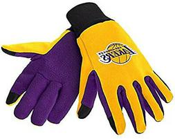 Los Angeles Lakers Texting Gloves NEW One Size Fits Most FOC