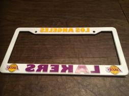 Los Angeles Lakers White License Plate Cover Frame NBA