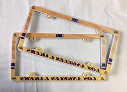 Lot of 2 Los Angeles Lakers Car Truck License Plate Frames N