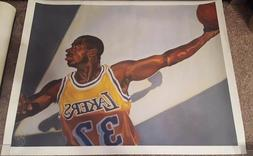 MAGIC JOHNSON LITHOGRAPH LOS ANGELES LAKERS HUGE 30 x 24 ROL