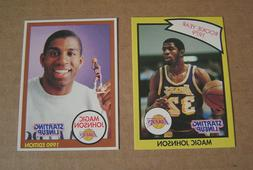 Magic Johnson Starting Lineup Cards Lot of  1990 Los Angeles