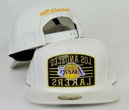 Mitchell & Ness White NBA Los Angeles Lakers snapback Hat Ca