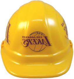 """NBA HARD HATS """"L A LAKERS"""" Pin or 6 Point Ratchet Susp ANSI"""