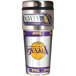 NBA Los Angeles Lakers 16oz Travel Mug Tumbler with Metallic