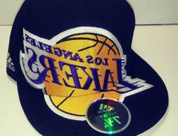 nba los angeles lakers black fitted baseball