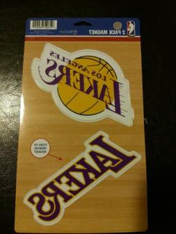 NBA Los Angeles Lakers Car/ Refrigerator Magnet 2-Pack by Wi