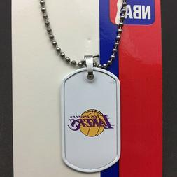 NBA Los Angeles Lakers Dog Tag Necklace-Free Shipping