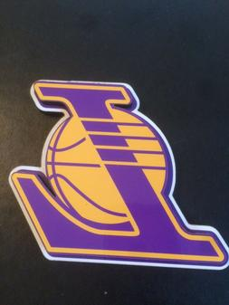 NBA LOS ANGELES LAKERS Magnet Wood Mount Logo New 3.5 x 3.5