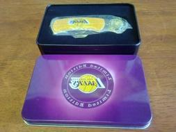 NBA LOS ANGELES LAKERS POCKET KNIFE IN TIN CASE