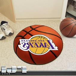 "NBA Novelty Basketball Mat Size: Round 2'5"", NBA Team: Los A"