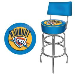 NBA Oklahoma City Thunder Padded Swivel Bar Stool with Back