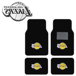 New 5pc NBA Los Angeles Lakers Car Truck Floor Mats & Chrome