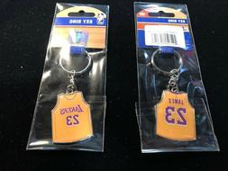NEW  LeBron James Jersey Keychain - Los Angeles Lakers - Key