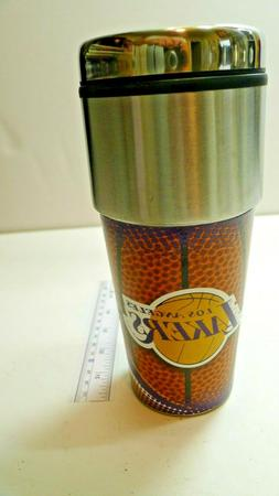 New LOS ANGELES LA LAKERS STAINLESS STEEL COFFEE TRAVEL MUG