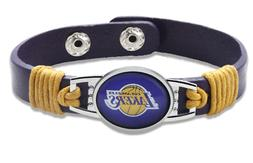 New Los Angeles Lakers leather Adjustable Bracelet, Gift for
