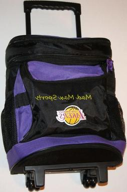 """New LOS ANGELES LAKERS Tailgate INSULATED Rolling 19"""" Luggag"""