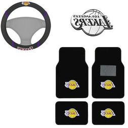 New NBA Los Angeles Lakers Car Truck Floor Mats Steering Whe