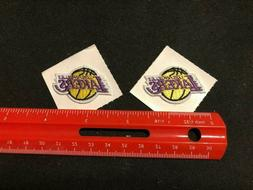 NEW Two Los Angeles Lakers Adhesive Fabric Patches  - Extra