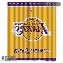 New Waterproof Los Angeles Lakers Basket Ball Custom Shower