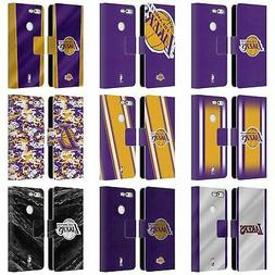 OFFICIAL NBA LOS ANGELES LAKERS LEATHER BOOK WALLET CASE FOR