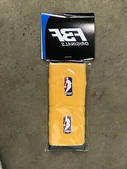 Pair Gold Wristband Arm Bands Basketball Logo NBA Gear Sleev