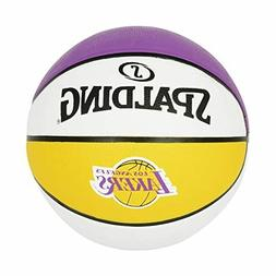 Pro Spalding Los Angeles Lakers In/Out Door Basketball 29.5'