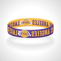 Reversible Los Angeles Lakers Bracelet Wristband LA Lakers L