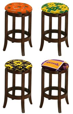 "SPORTS 24"" or 29"" ESPRESSO WOOD BAR STOOL SWIVEL SEAT KITCHE"