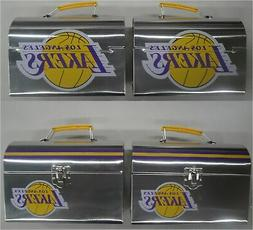 Two  2019 Los Angeles Lakers SGA Lunch Box / Lunch Pail 4/4/