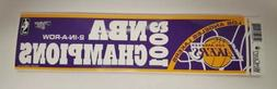 VINTAGE LOS ANGELES LAKERS 2001 NBA Champions 2-in-a-row Bum