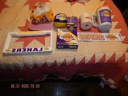 "VINTAGE"" Lot of Los Angeles Lakers Calendar/Hat/License Plat"